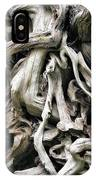 Weathered Roots - Sitka Spruce Tree Hoh Rain Forest Olympic National Park Wa IPhone Case