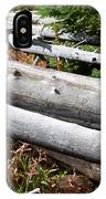 Weathered Trees Fallen Down Within Yellowstone National Park IPhone Case