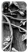 Weathered Wall Art In Black And White IPhone Case