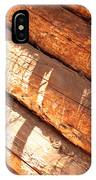 Weathered Wood Log Cabin IPhone Case