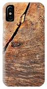 Weathered Wood On Old Tree IPhone Case