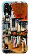 Wedding Day In Lavenham-suffolk-england - Palette Knife Oil Painting On Canvas By Leonid Afremov IPhone Case