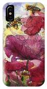 Wee Bees And Poppies IPhone Case