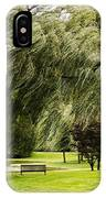Weeping Willow Trees On Windy Day IPhone Case