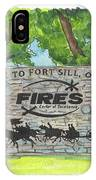 Welcome Sign Fort Sill IPhone Case by Betsy Hackett
