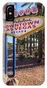R.i.p. Welcome To Downtown Las Vegas Sign Day IPhone Case