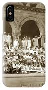 We're Up Against It,students On Steeps Of Encina Hall At Stanford University April 18,1907 IPhone Case