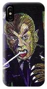 Werewolf Drinking A Pina Colada At Trader Vic's IPhone Case