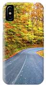 West Virginia Curves - In A Yellow Wood - Paint IPhone Case