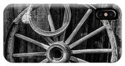 Western Rope And Wooden Wheel In Black And White IPhone X Case