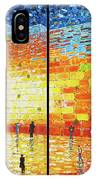 Western Wall Jerusalem Wailing Wall Acrylic Painting 2 Panels IPhone X Case