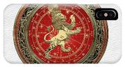Western Zodiac - Golden Leo - The Lion On White Leather IPhone Case