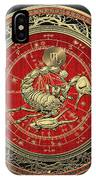Western Zodiac - Golden Scorpio - The Scorpion On Black Velvet IPhone Case
