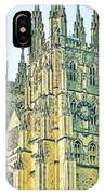 Westminster Abbey Postcard IPhone Case