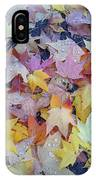 Wet Fall Leaves IPhone Case