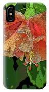 Wet Hibiscus IPhone Case