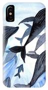 Whale Family On Sun Ray IPhone Case