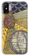 What Did I Learn? IPhone Case
