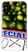 What Lime Shortage? #dontbelievethehype IPhone Case