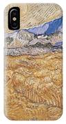 Wheat Field With Reaper Harvest In Provence IPhone X Case