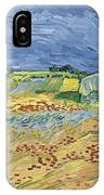 Wheat Field With Stormy Sky IPhone Case