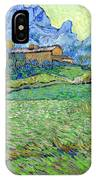 Wheat Fields In A Mountainous Landscape, By Vincent Van Gogh, 18 IPhone Case