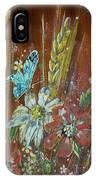 Wheat 'n' Wildflowers I IPhone Case