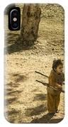 Wheelbarrow Girl  IPhone Case