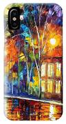 When The City Sleeps 2 - Palette Knife Oil Painting On Canvas By Leonid Afremov IPhone Case
