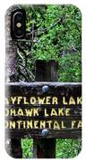 Which Way To Mayflower Lake IPhone Case