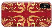 Whimsical Organic Pattern In Yellow And Red I IPhone Case