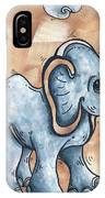 Whimsical Pop Art Childrens Nursery Original Elephant Painting Adorable By Madart IPhone Case