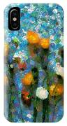 Whimsical Poppies On The Blue Wall IPhone Case