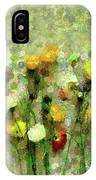 Whimsical Poppies On The Wall IPhone Case