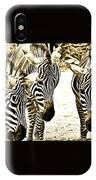 Whispering Zebras IPhone Case