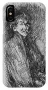 Whistler, Self-portrait.  IPhone Case