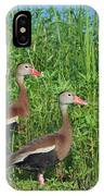 Whistling Ducks IPhone Case