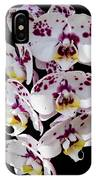White And Magenta Orchids IPhone Case
