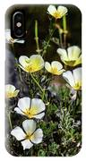 White And Yellow Poppies 1 IPhone Case