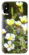 White And Yellow Poppies Abstract 2   IPhone Case