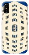 White Apartment Block Abstract And Blue Sky IPhone Case