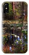 White Azaleas In The Swamp IPhone Case