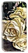 White Baby Roses IPhone Case