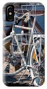White Bike IPhone Case