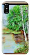 White Birch On The Lake IPhone Case