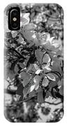 White Blossoms In Black And White IPhone Case