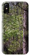 White Blossoms In The Woods IPhone Case
