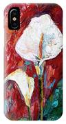 White Calla Lilies Oil Painting IPhone X Case