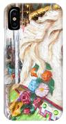 White Carousel Horse Dressed Up IPhone Case