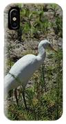 White Cattle Egret IPhone Case